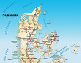 Map of denmark — Stock Photo