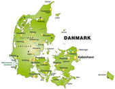 Map of Denmark — Stock Vector