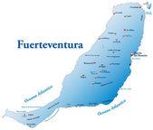 Map of Fuerteventura — Stock Vector