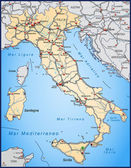 Highway Map of Italy in orange — Stock Vector