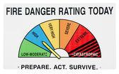 Signo de peligro de fuego — Foto de Stock