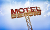 Motel Sign — Stock Photo
