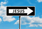 Jesus One way — Stock Photo