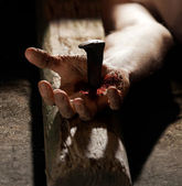 Nailed to the cross — Stock Photo