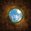 Golf Ball Falling - Stock Photo
