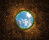 Golf Ball Falling — Foto Stock