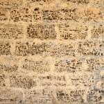 The texture of the walls of the rakushnyaka — Stock Photo