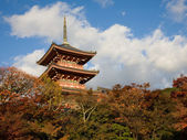 Japanese Temple in the autumn — Stock Photo