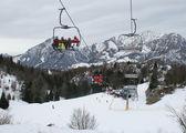 Hoists at the ski resort — Stock Photo