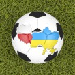Euro 2012 soccer ball — Stockfoto
