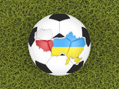 Euro 2012 soccer ball — Stock Photo