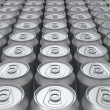 Blank cans background — 图库照片