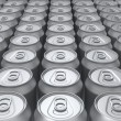 Stock Photo: Blank cans background