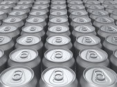 Blank cans background — Stock Photo