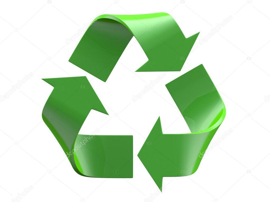 Logotipo De Reciclaje Aislado Sobre Un Fondo Blanco