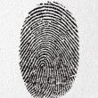 Fingerprint on a paper — Stock Photo