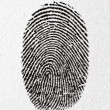 图库照片: Fingerprint on paper