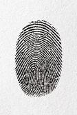 D'empreintes digitales sur un papier — Photo