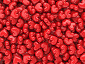 Red shiny hearts valentine background — Стоковое фото