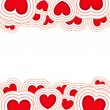 Valentines background with red hearts isolated on a white background — Stock Photo #8357634