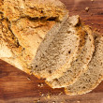 Fresh organic sliced bread — Stock Photo