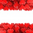 Valentines background with red hearts isolated on a white background — Stok fotoğraf