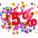 5 percent off — Stock Photo #10212807