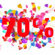 70 percent off — Stock Photo