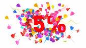 5 percent off — Stock Photo