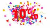 10 percent off — Stock Photo