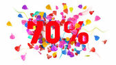 70 percent off — Stock Photo