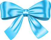 Blue gift bow — Stock Vector