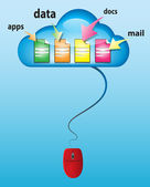 Cloud computing concept illustration — Stock Vector