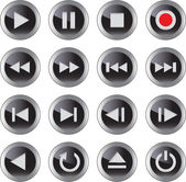 Multimedia icon/button set — 图库矢量图片
