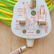 Stock Photo: Electrical plug