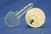 Lock and key — Stock Photo