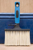 Emulsion paint brush — Stock Photo
