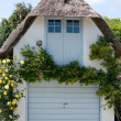 Thatched garage. — Stock Photo