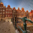 Singel Canal Amsterdam — Stock Photo