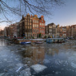 Amsterdam winter 2012 — Stock Photo