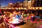 Canales congelados en amsterdam — Foto de Stock