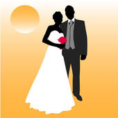 Wedding couple — Stock Vector