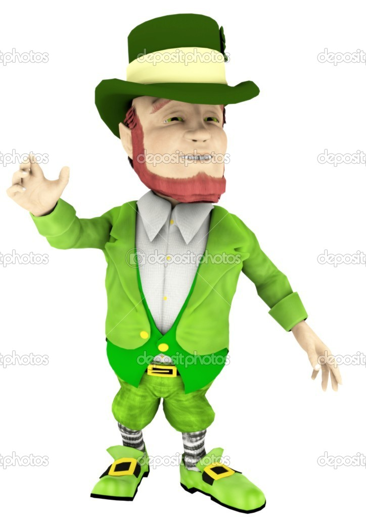 A leprechaun for saint patrick's day — Stock Photo #9391658
