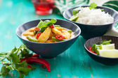 Pollo al curry con riso — Foto Stock