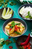 Chicken curry with rice — Stock Photo
