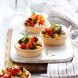 Tartlets with vegetables — Stock Photo