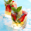 Stock Photo: Strawberry Basil Sangria