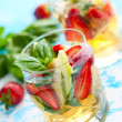 Strawberry Basil Sangria - Stock Photo