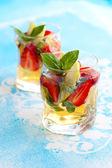 Strawberry Basil Sangria — Stock Photo