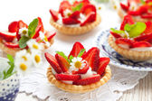Strawberry tartlets — Stock Photo